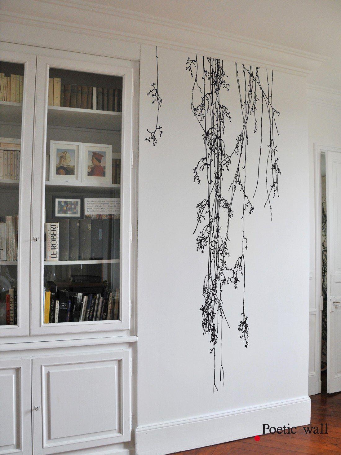Sticker mural haut de gamme grand format sonate d hiver stickers haut de gamme grands - Pochoir mural chambre ...