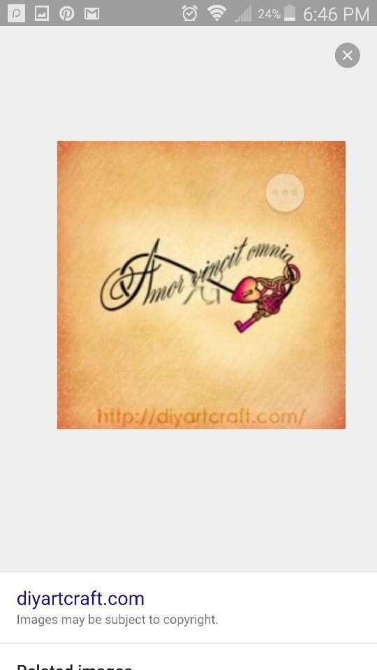 Amor Vincit Omnia Inspirational Tattoos Tattoo Designs Image