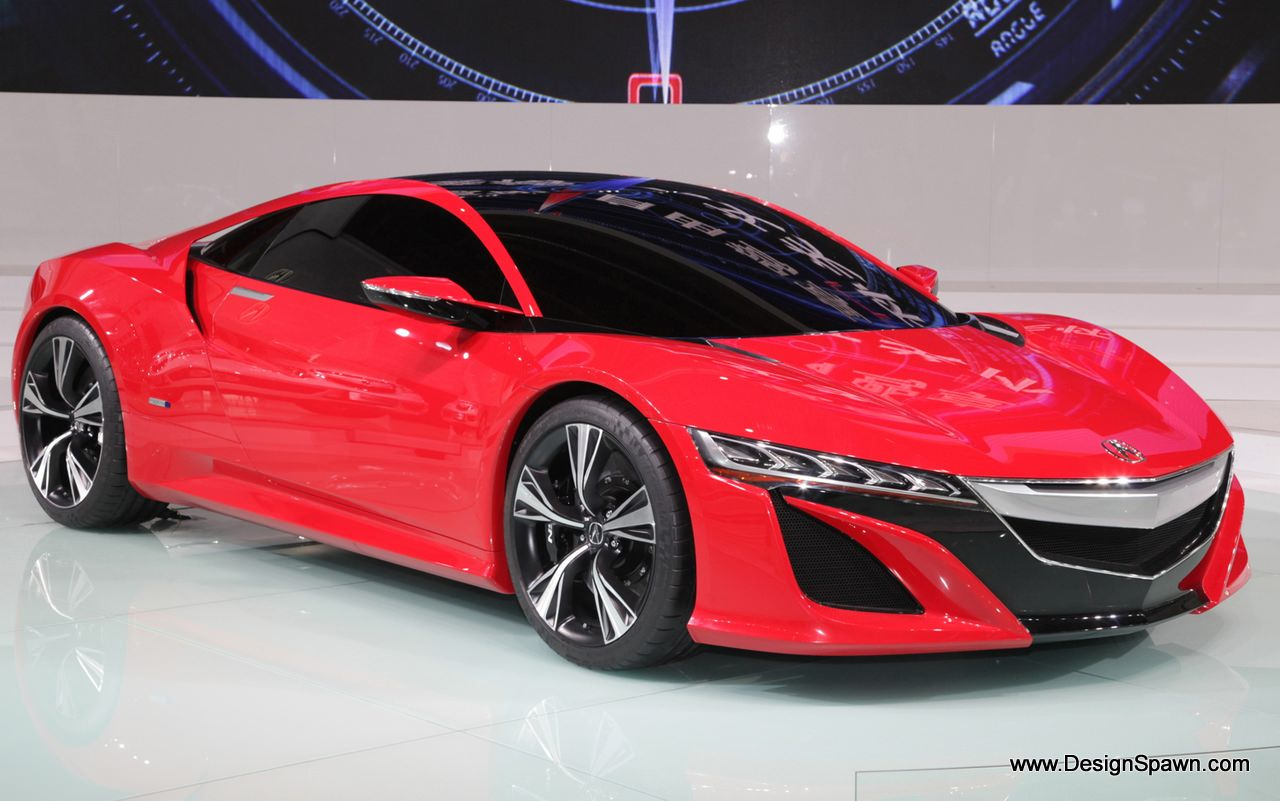 The Acura NSX released by Honda's Acura luxury division