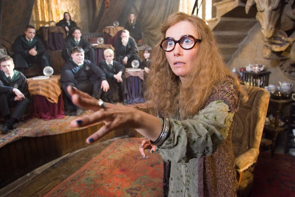 In Prisoner Of Azkaban Professor Trelawney Refuses To Sit At A Table With Dumbledore As 12 People Already Sit Harry Potter Characters Harry Potter Movies Emma Thompson