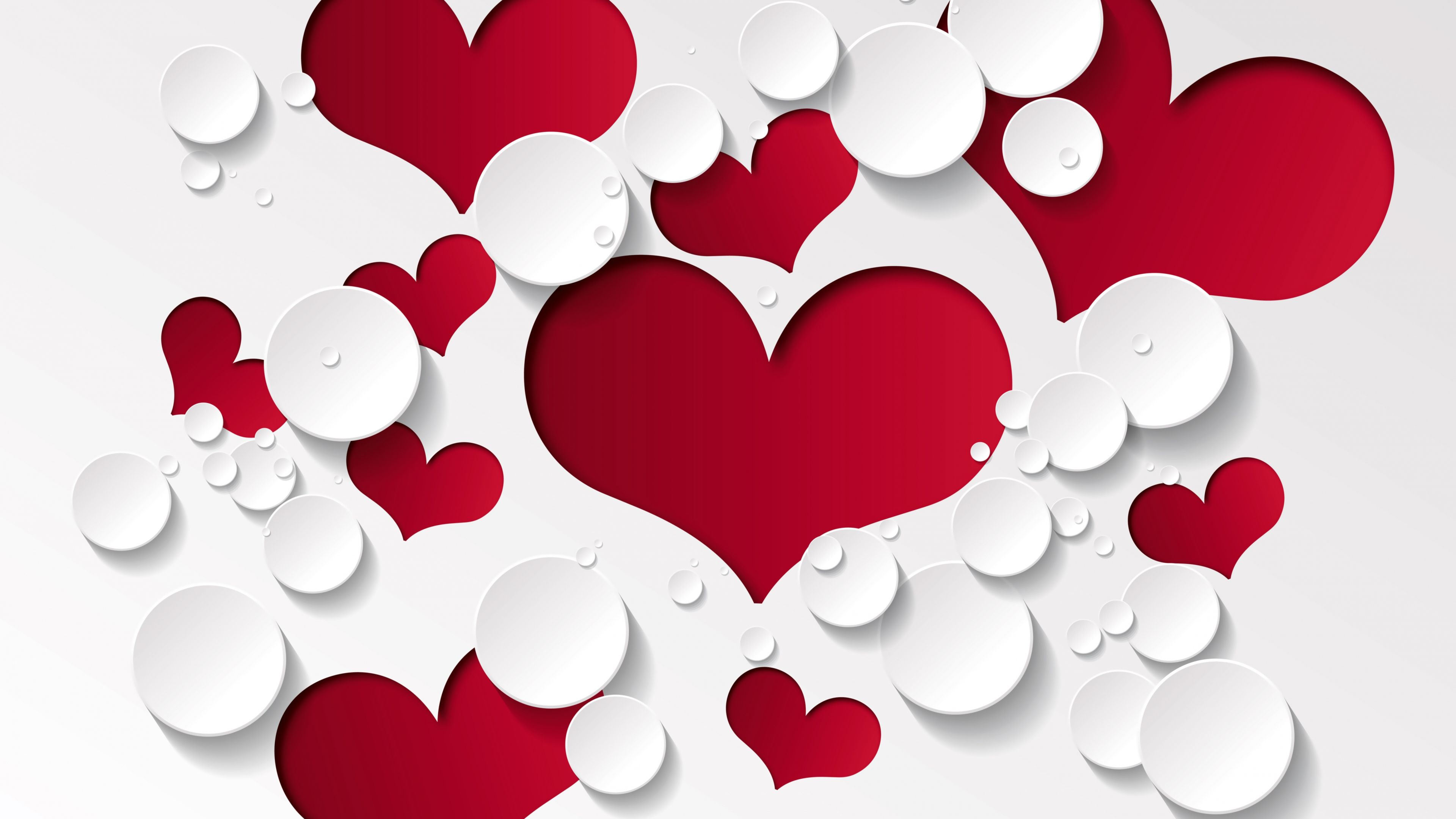 Wallpaper valentines day heart decorations romantic love art