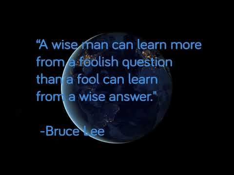 The Wise Will Learn More About A Fool By Listening To His Questions