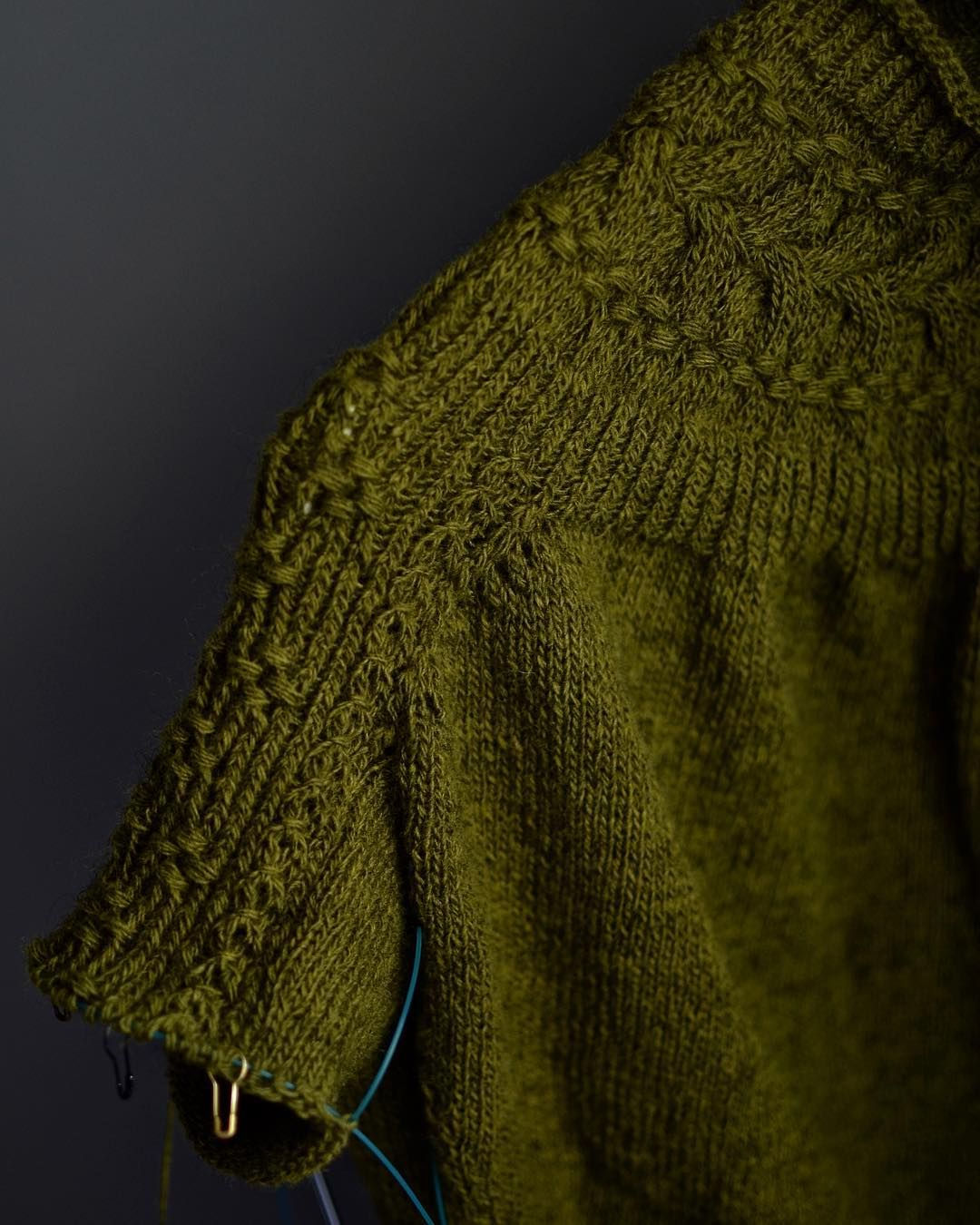 54cfb8ace The first time I enjoy knitting sleeves!  brightsweater ...