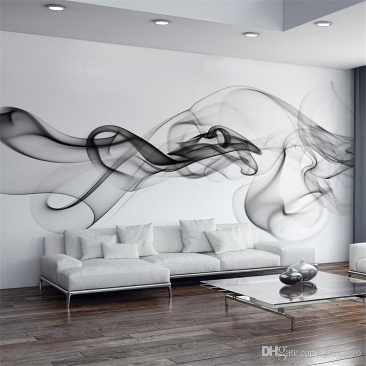 Smoke Fog Photo Wallpaper Modern Wall Mural 3D view wallpaper