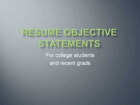 Resume Objective Statements Teacher in me Pinterest Resume