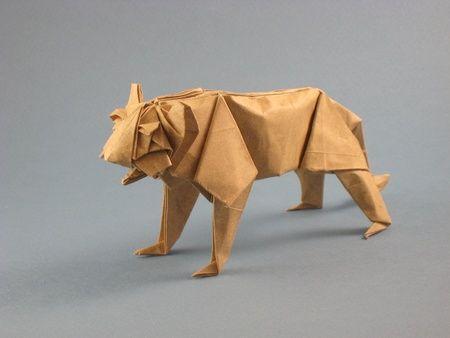 origami tiger Origami Husky Diagram
