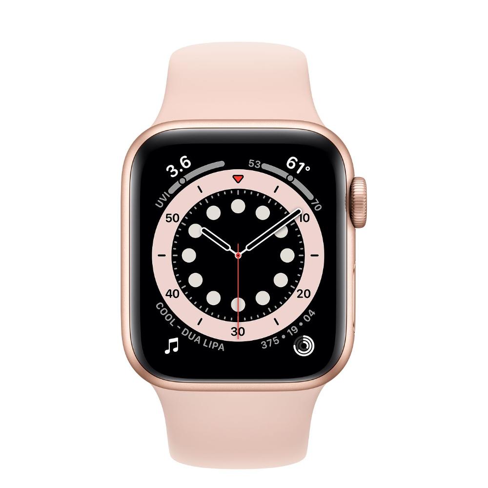 Apple Watch Series 6 Gps 44mm Gold Aluminum Case With Deep Navy Sport Band Regular Buy Apple Watch Apple Watch Apple Watch Iphone