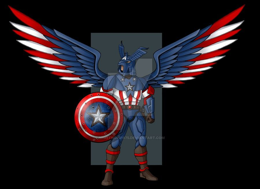 this is a piece i was asked to do for of his design idea for captain america patriot. this piece belongs to Robert A M CEO Trinity Liger Entertainment Productions Limited, Roanoke Virginia Copyrigh...