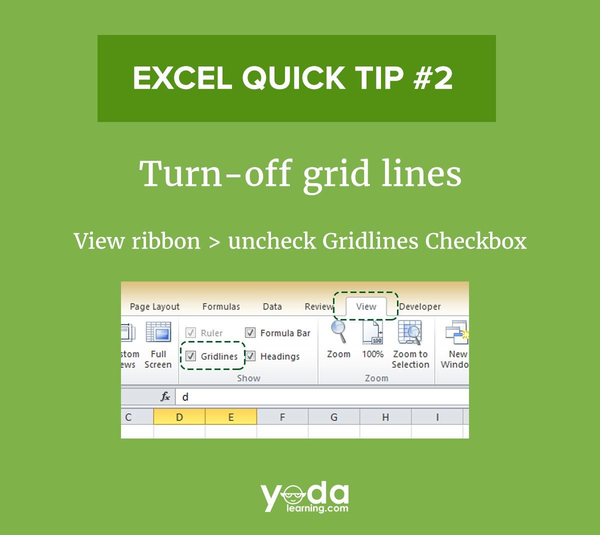 Remove Or Add Gridlines In Excel With Simple Steps Excel Financial Modeling Excel Budget