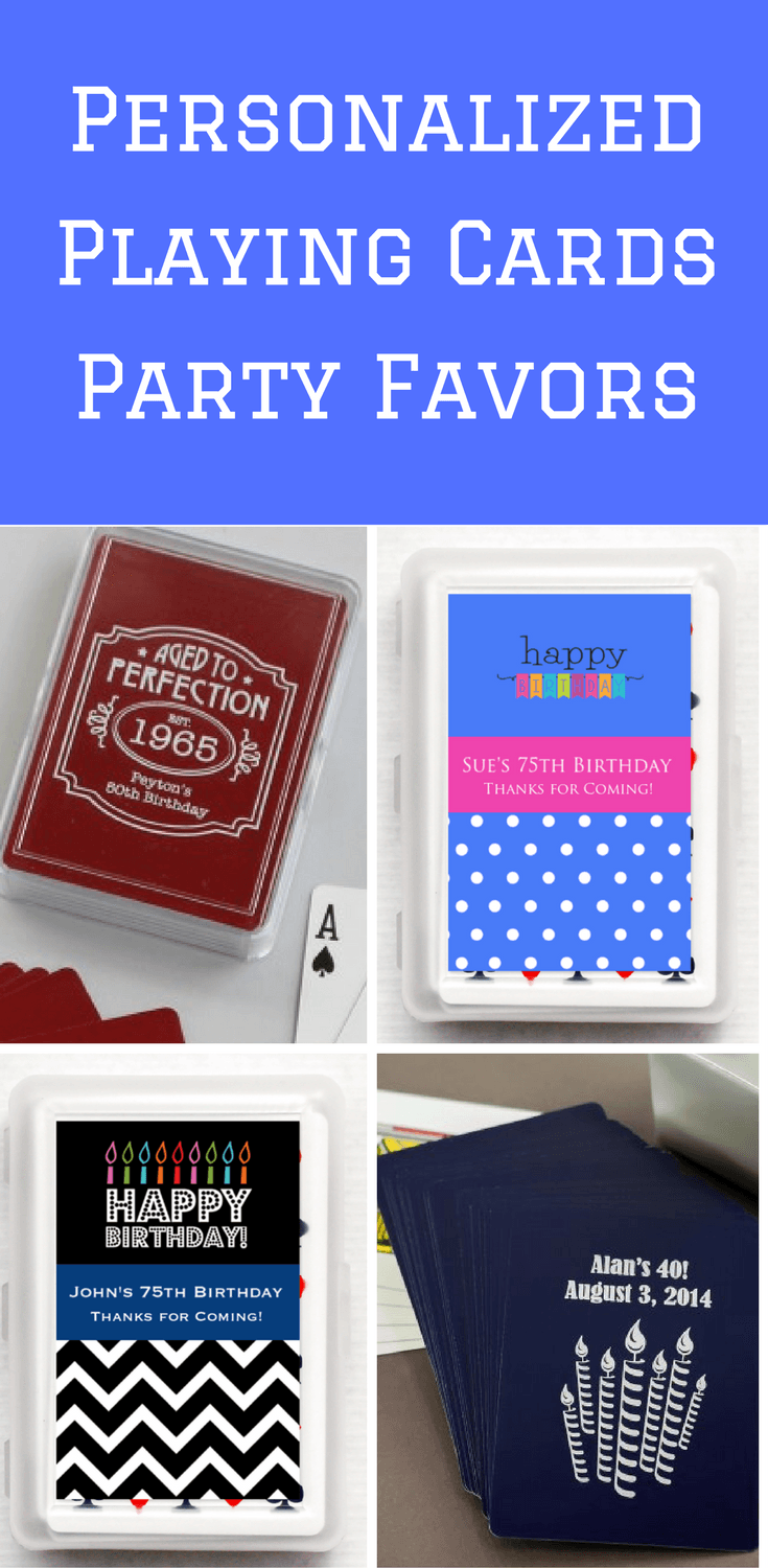 Personalized Playing Card Birthday Party Favors