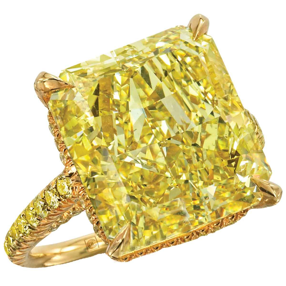 Yellow diamond ring by Cora