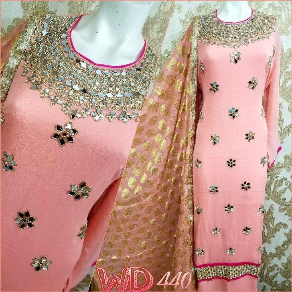 Mirror Work Pink Suit Online Sale At Best Price Stylish Dresses For Girls Pink Suit Designer Dresses Indian
