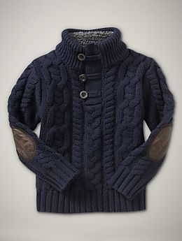 f5a3b1a352b2 chunky sweaters are adorable! Elbow patches look like a tiny ...