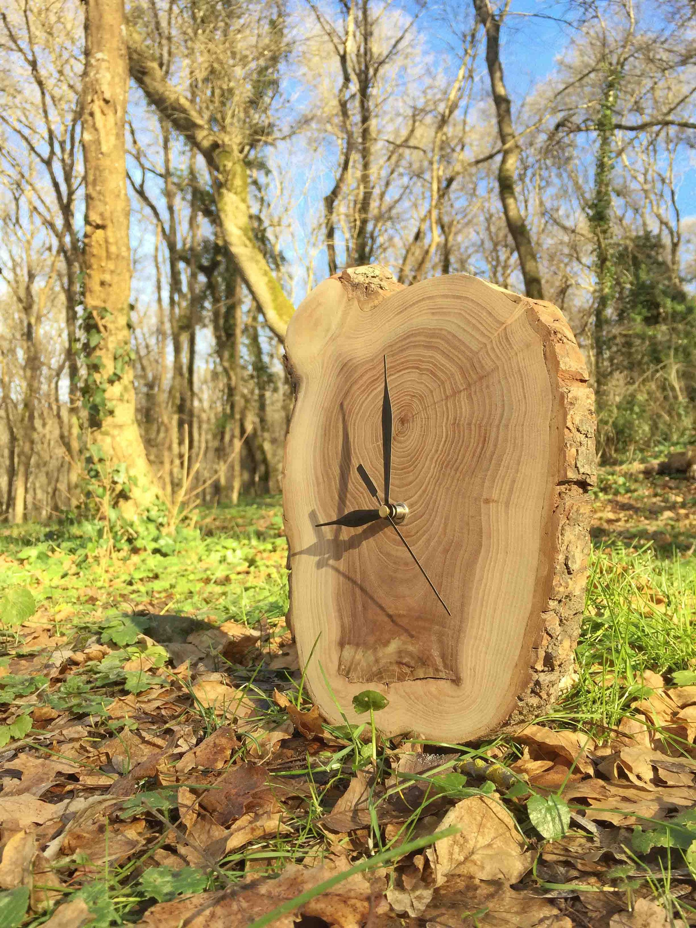 Wall Clock Large, Rustic Tree Slice, Clocks For Wall, Oversized Wall ...