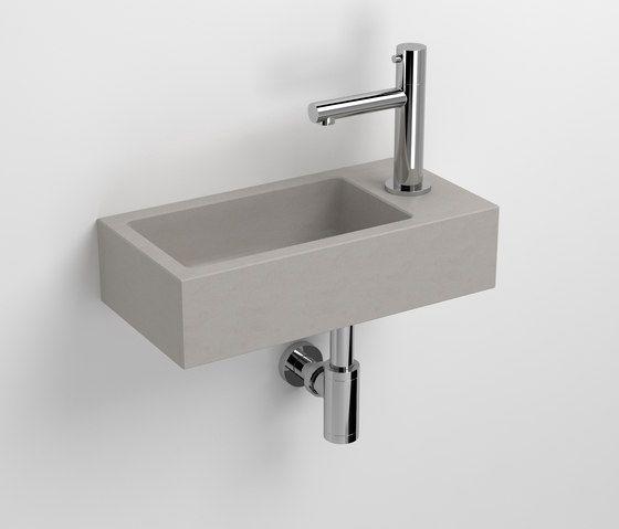 Flush 3 Beton Handwaschbecken Cl 03 11030 Von Clou Waschtische Waschbecken Gaste Wc Handwaschbecken Gaste Wc Und Wc Waschbecken