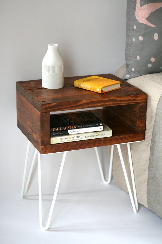Sashi Bedside Table Teak finish handmade