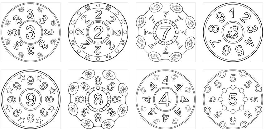 Super Mandalas De Números Listas Para Imprimir Y Colorear