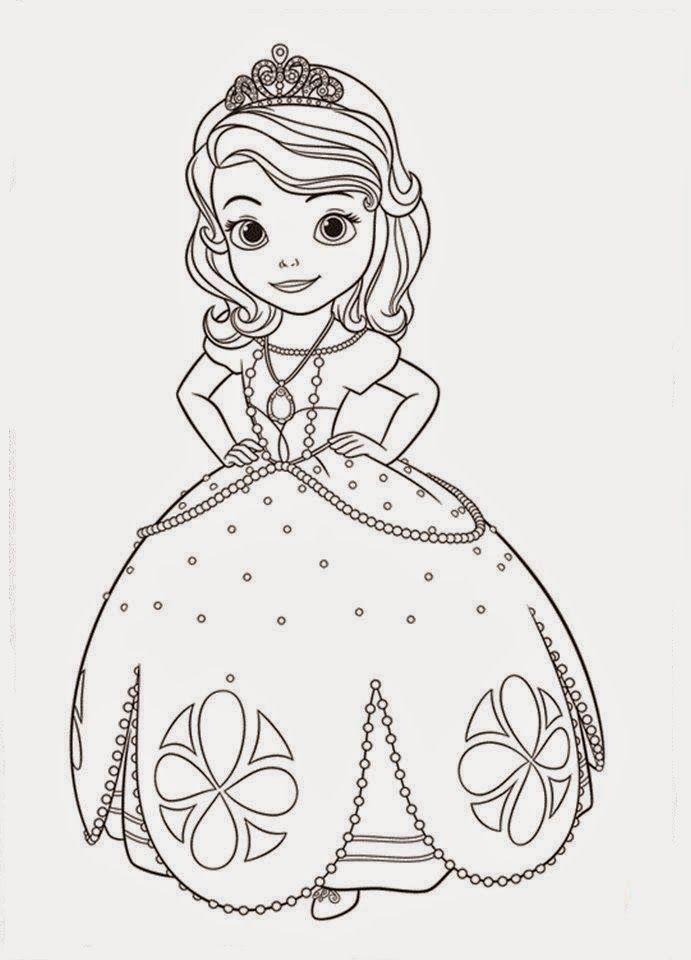 Ausmalbilder Sofia die Erste   Auf einmal Prinzessin ...