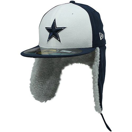 New Era Dallas Cowboys Youth On-Field Dog Ear 59FIFTY Fitted Performance Hat  - Navy Blue 9c4ce0204803