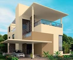 Image Result For Brown And White Exterior Painted Kerala Homes
