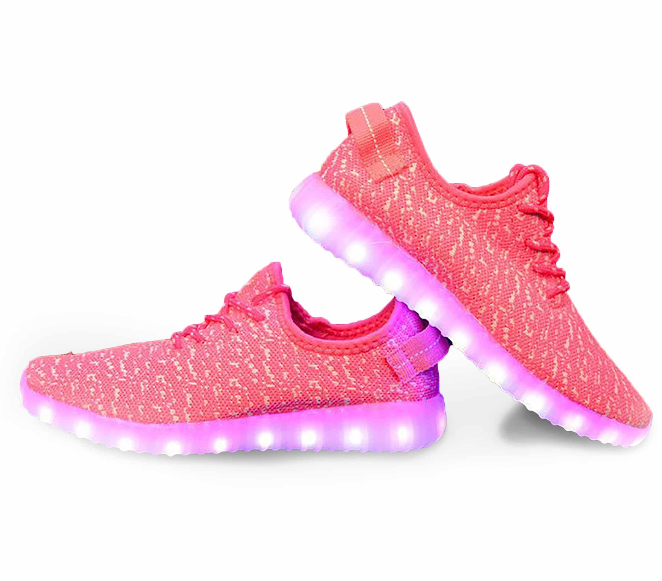 WOMEN'S PINK LED LIGHT UP TRAINERS