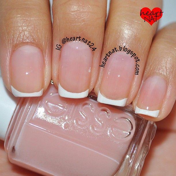 thin white tip manicure | Becca | Pinterest | Manicure