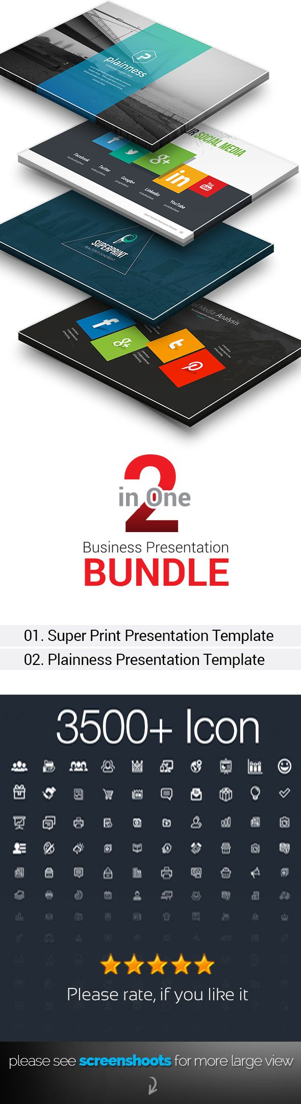 2 in 1 Business Plan Keynote Bundle