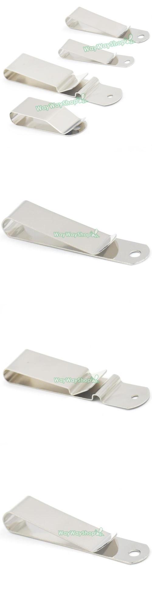 Belt Clip Leather Craft Clasp Spring Holster Hook Buckle Keyring 90 63mm Leather