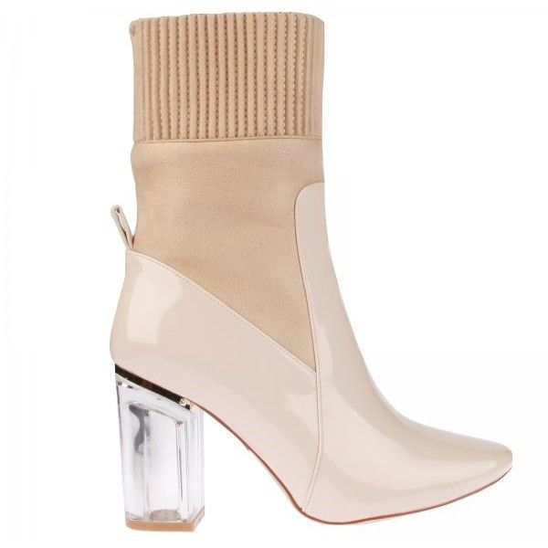 8d4f5a7ef08 Thea High Ankle Boot In Nude Patent ($12) ❤ liked on Polyvore ...