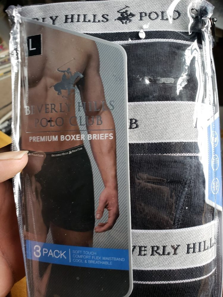 31a6e02aa8a4 BEVERLY HILLS POLO CLUB MEN UNDERWEAR 3 PACK BOXER BRIEFS- grey an black  #fashion #clothing #shoes #accessories #mensclothing #underwear (ebay link)