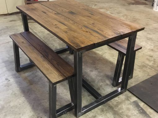 Small Farm Table Set Benches Are Small Enough To Go Under The - Small farm table with bench