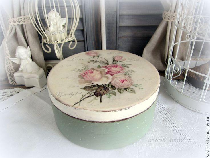 Caja decorada reciclado de cajas y botes de todo tipo manualidades y decoraci n vintage y - Decoracion vintage reciclado ...