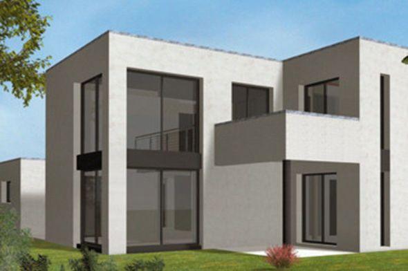 Plan Maison   Grande Maison Moderne HQE (revoir étage  Ajouter Chambre  Parent Avec Salle