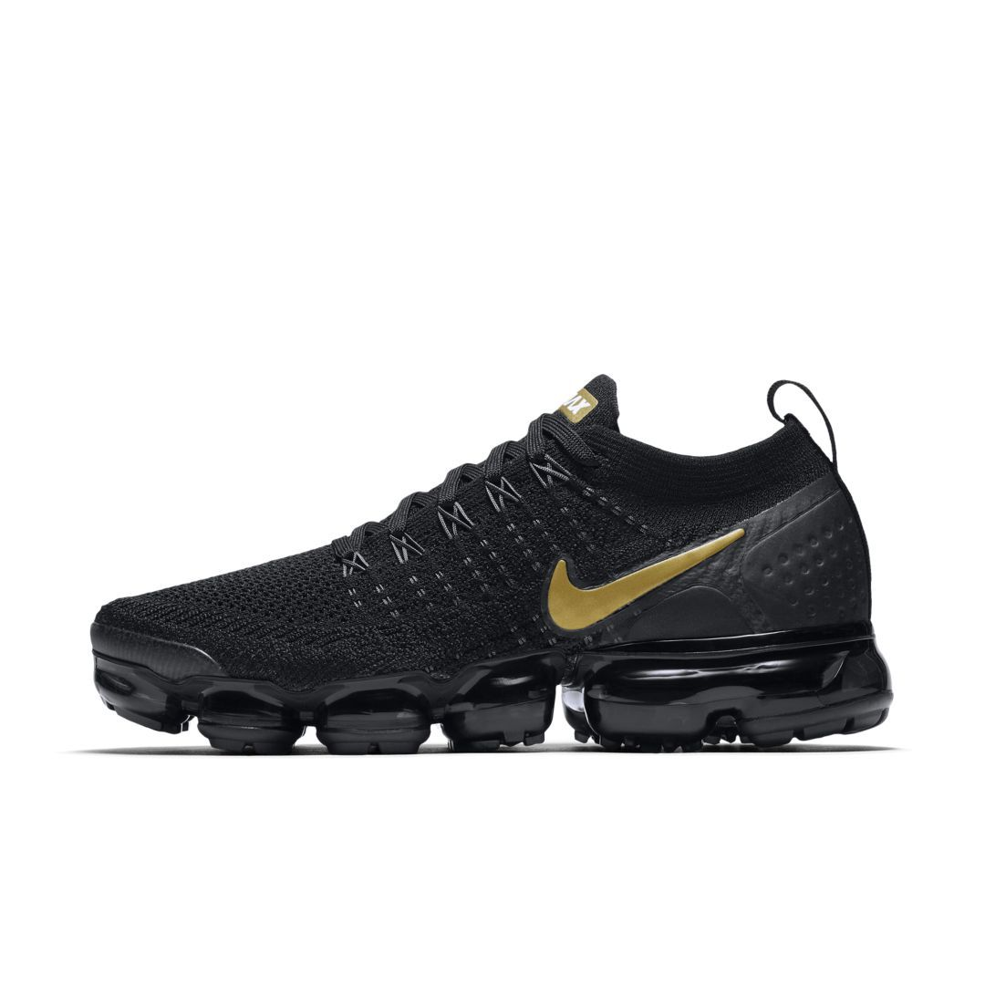 newest af24c abeca Nike Air VaporMax Flyknit 2 Metallic Women s Shoe Size 9.5 (Black)