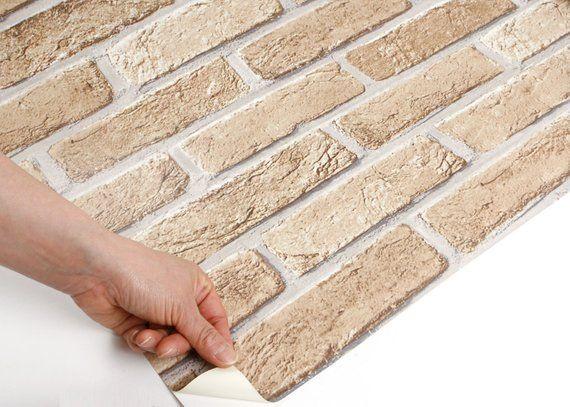ROSEROSA Peel and Stick Flame Retardation PVC Faux Brick