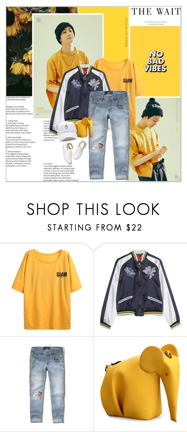 """""""The Yellow Tee"""" by grace-eun-ae-boye ❤ liked on Polyvore featuring M. Gemi, Hollister Co. and ootd"""