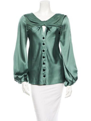 591cea06014cd4 Zac Posen Silk Blouse