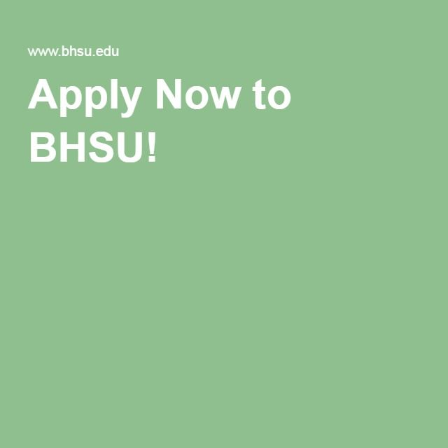 Apply Now to BHSU!