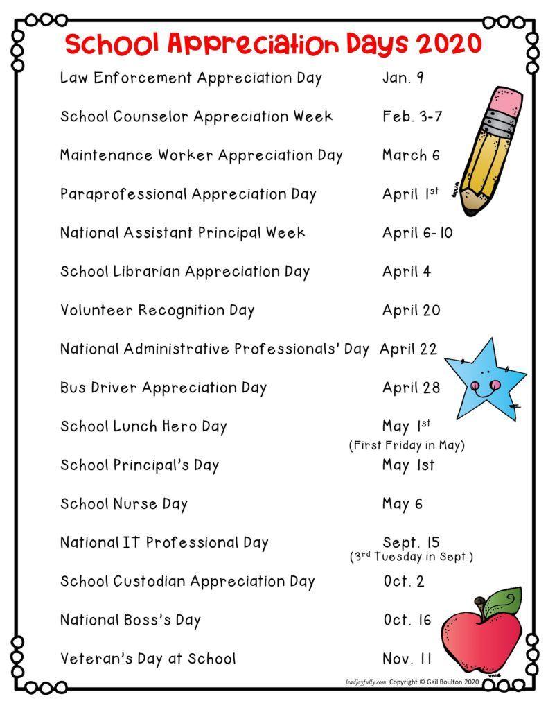 School Appreciation Days 2020   Lead Joyfully