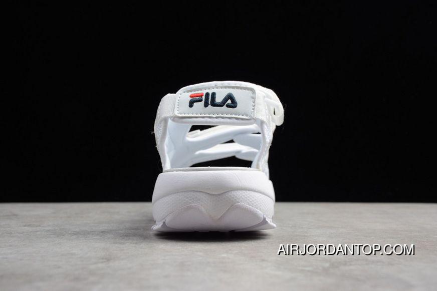 b7028cb14faf P13 Fila Disruptor2 Sandal Spoilers 2 Summer Beach Velcro Platform Sandals  FS1HTZ3083X All White Women And
