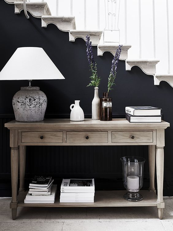 A Room That Has Been Properly Lit Will Have A Great Mood And Atmosphere And Table Lamps Are An Integral Par Hall Decor Oak Console Table Entryway Console Table