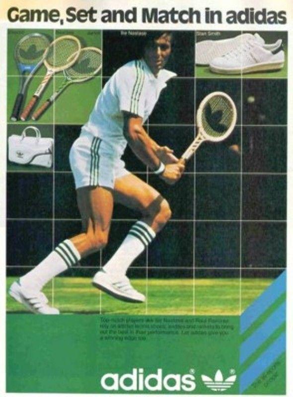 elemento esfuerzo pesado  Ilie Nastase for Adidas | Vintage tennis, Tennis, Adidas ad