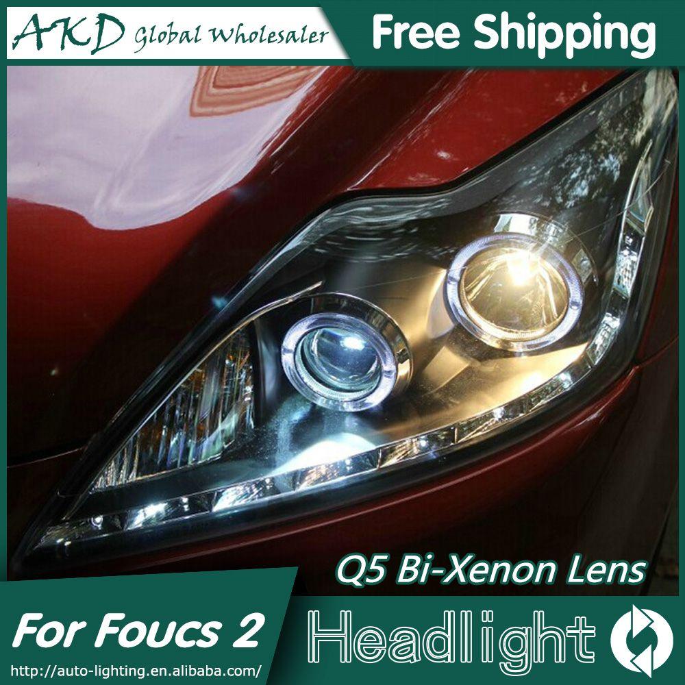 Akd Car Styling For Ford Focus Headlights 2009 2011 Classic Led Headlight Led Drl Bi Xenon Lens High Low Beam Parking Fog Lamp Ford Focus Car Lights Fog Lamps