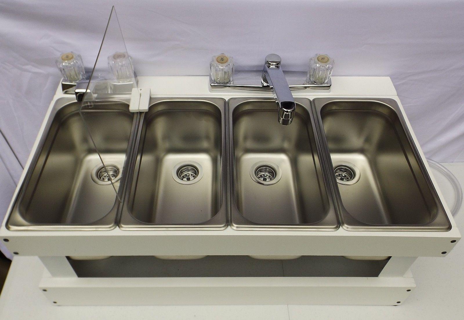 Portable Sink Mobile Concession 3 Compartment With Hand Wash Sink Smw Portable Sink Sink Hand Washing