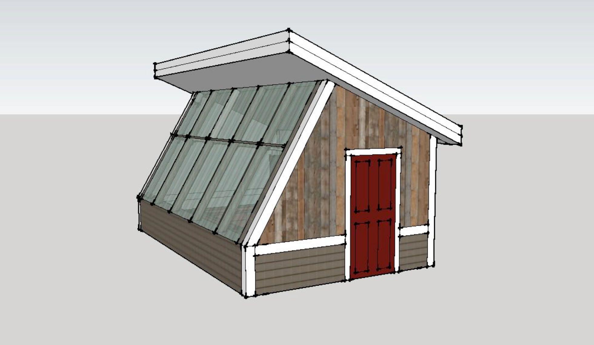 Passive solar greenhouse se perspective rural Passive solar greenhouse design plans