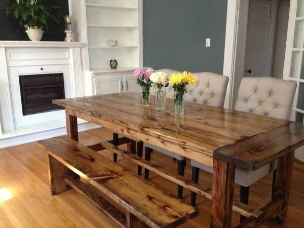 Custom Farm Table Near Columbus Ohio For 500 Farmhouse Dining TablesFarmhouse FurnitureDining