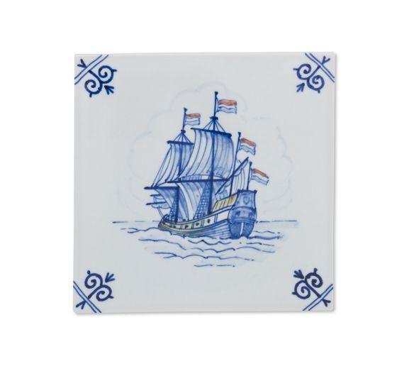 Behang Met Portugese Tegel: Handbeschilderde Delfts Blauw Tegels