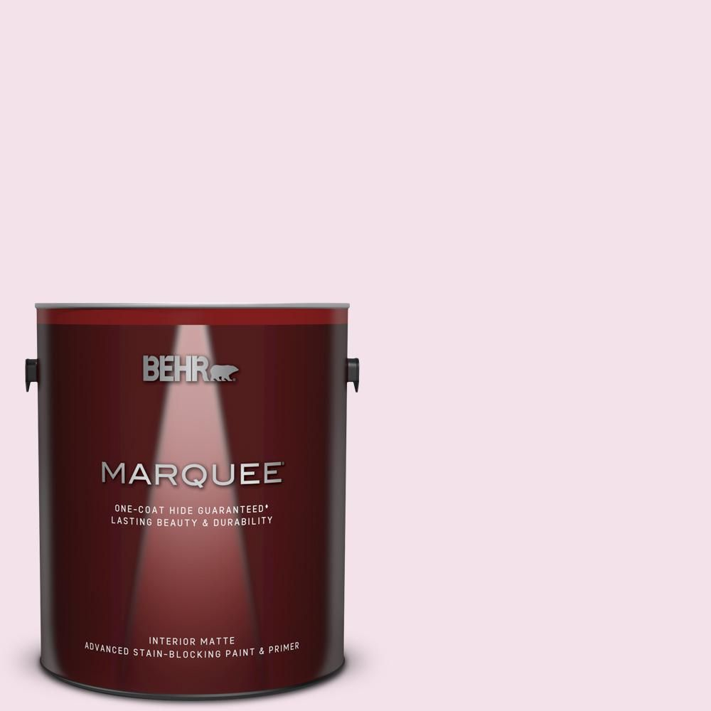 BEHR PREMIUM PLUS 8 oz. #690C-2 Pink Amour Flat Interior/Exterior Paint and Primer in One Sample-690C-2PP - The Home Depot #silentfilm