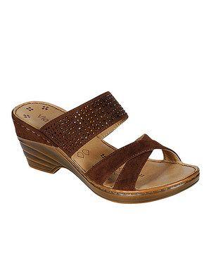 c8dfcd1ee3d1 Love this PINKY FOOTWEAR Brown Nancy Sandal by PINKY FOOTWEAR on  zulily!   zulilyfinds