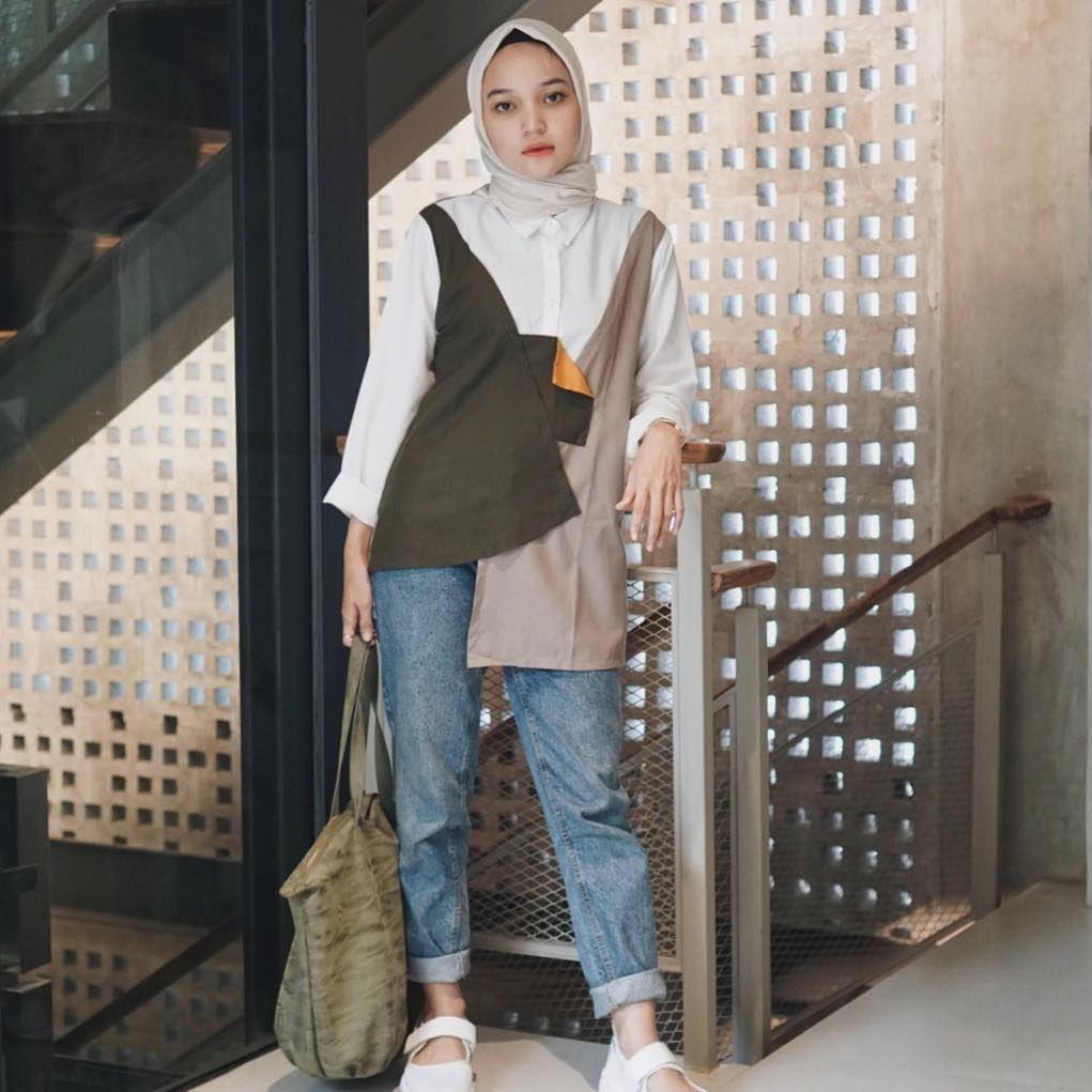 Pin di Outfit Baju Remaja Berhijab Ala Selebgram 2018